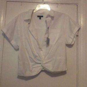 Crop button up shirt